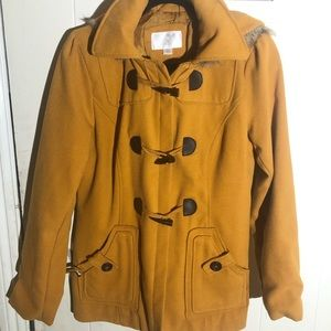 Mustard Hooded Coat